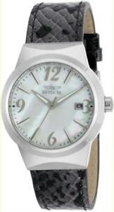 Invicta 17300 Angel White MOP Dial Snakeskin Style Leather Strap Womens Watch