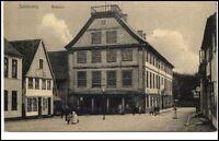 SCHLESWIG um 1910/20 Personen Strassen Partie am Rathaus Postkarten Vereinigung