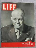 Life Magazine April 16 1945 General Dwight Eisenhower Cover with WW2 Print Ads
