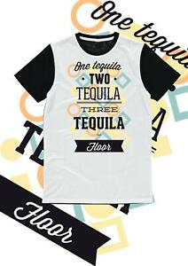 Stag or Hen Night T Shirt - One Tequila, Two Tequila Design - Printed T Shirt