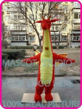 Red Dragon Mascot Costumes Cartoon Apparel Birthday Party Masquerade Christmas