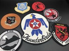 7 Vintage Patch Lot Military, Thunderbirds, American, Tactical Baja Scorpions