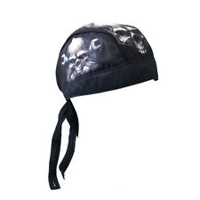 Zandana foulard Bandana tête de mort et clés anglaises Skull moto custom Biker