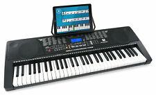 61 Leucht Tasten Keyboard E-Piano Lern Klavier 255 Sounds & Rhythmen USB MP3