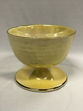 Vintage Yellow Maling Footed Bowl Made In England Marked To Base