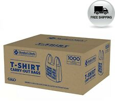 Members Mark T Shirt Carry Out Bags 1000 Ct Free Shipping