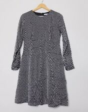& Other Stories Black White Dotted Dress EU 38 UK 10