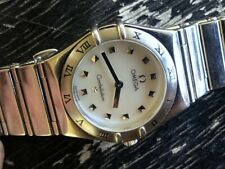 OMEGA CONSTELLATION LADIES ORIGINAL MOTHER OF PEARL MOP DIAL BRACELET w BOX RUNS