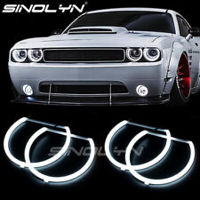 For Dodge Challenger  08-14 LED Angel Eyes DRL Halo Rings Lights Bulbs Headlight