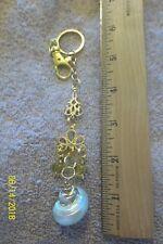 purse jewlrey gold color seashell keychain backpack filigree dangle charms #29