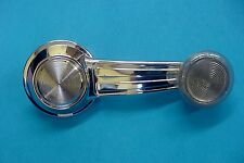 Fits Pontiac GM New Chrome Manual Door Window Crank Handle Roller Clear Knob NOS