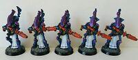 5 x Classic ELDAR Wraithguard Pro-painted metal models Warhammer 40k OOP