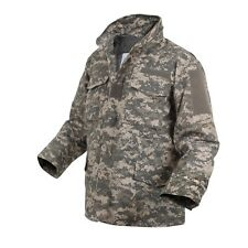 ACU digital all terrain camouflage M-65 style field jacket with liner Mens S NWT