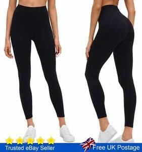 Tummy Control Leggings High Waist Stretch Fitness  Sports Gym Trousers Ladies