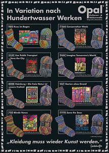 8 x 100 gr. Sockenwolle/Strumpfwolle Opal Hundertwasser 3    !!! NEU !!!