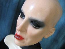 Maske KIRA B+WIMPERN (keine Perücke) - Latex Gummi Gesicht Transgender Frau TV