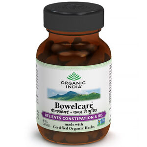 2 x Organic India Bowel Care 60 Capsules FREE SHIPPING BEST PRICE GMP CERTIFIED