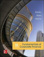 Fundamentals of Corporate Finance 8th Edition by Richard A Brealey (Hardcover)