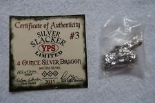 Yeager Poured Silver YPS 4 oz Silver Slacker Dragon Bar Limited to 200