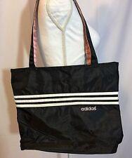 Adidas Zip Top Tote Shoulder Bag Gym Bag Black White Pink EUC