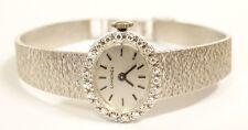 Ladies LONGINES Watch Manual Wind  Diamond Bezel 18K White Gold  32g Swiss Made