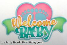 WELCOME BABY title paper piecing for Premade Scrapbook Pages ALBUM by Rhonda