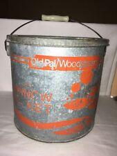 vintage old pal woodstream floating galvanized orange minnow bucket lititz pa