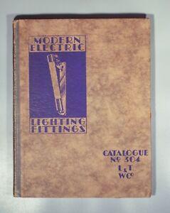 Original Modern Electric Lighting Catalogue 1933 art deco modernist industrial