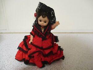 "Madame Alexander 7"" Spanish Girl Doll Bent Knee Walker"