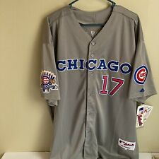 Chicago Cubs Majestic Authentic Away Gray Jersey Kris Bryant #17 Sz XXL 56 New