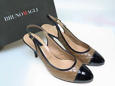 Bruno Magli Designer Damenschuhe Limosella Taupe Nero DN4967 Gr. 40 NEU