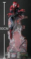 "THE Black AMAZING SPIDER-MAN 2 Last Stand 18"" Statue Figur Figuren OVP 50CM"