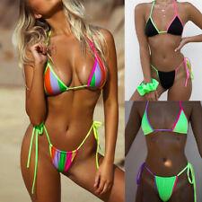 Womens Halter Padded Push-up Bikini Set Swimsuit Bathing Suit Swimwear Beachwear