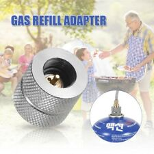 Camping Stove Gas Refill Adapter Picnic BBQ Butane Canister Valve Converter CB