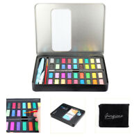 36 Colors Solid Watercolor Pigment Art Painting Set Box with Paper Brush Pen 1