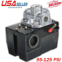 Air Compressor Pressure Switch Control Valve 95-125 PSI Electric On / Off US
