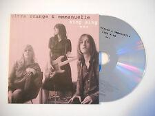 ULTRA ORANGE & EMMANUELLE : SING SING ♦ CD SINGLE PORT GRATUIT ♦