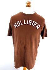 HOLLISTER Mens T-Shirt Top XL Brown Cotton