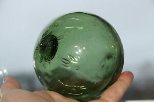 a nearly perfect old Norwegian S marked glass fishing float