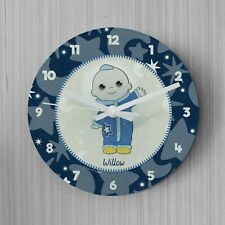 Children's Personalised Moon and Me Moon Baby Glass Clock Bedroom Clock