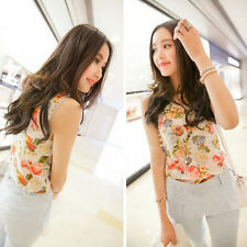 1PC Women Casual Chiffon Sleeveless Flower Shirt Blouse Vest Tank Tops Hoc