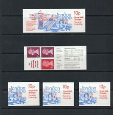 5 x 10p Booklets Sgfa11 Jan 1980 All With Good Perforations