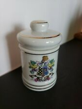DOM made in Japan Vintage Apothecary Aspirin Ceramic Jar