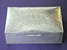 Vintage Tudric Liberty & Co hammered pewter cigarette box circa 1920's 'Solkets'