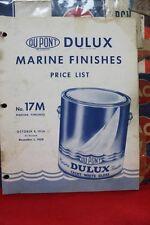 VINTAGE 1959 AUTOMOTIVE DU PONT DULUX MARINE FINISHES PRICE LIST No. 17M   (141)
