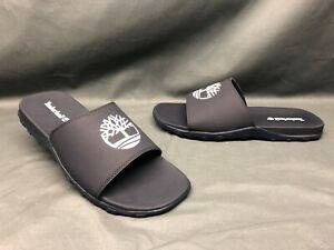 Timberland Men's Fells Slide Sandals Slides Slip-On Navy White Size 8 NEW!