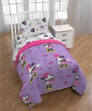 Disney Minnie Mouse Purple Love Reversible 5Pc Twin Bedding Set *New*