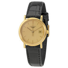 Longines Presence Champagne Dial Ladies 18K Yellow Gold Watch L4.279.6.32.0