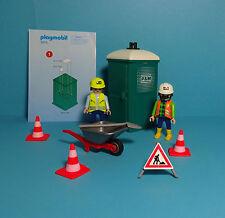 PLAYMOBIL Cantiere/Construction ~ MOBILE TOILETTE & bautrupp/Toilet (3275) & Manual