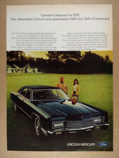 1970 Lincoln Continental Sedan vintage print Ad